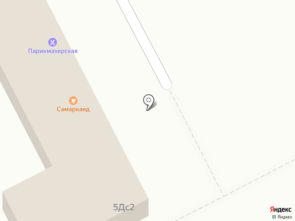 Самарканд на карте Московского