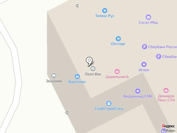 СнабСтройСпец на карте Московского