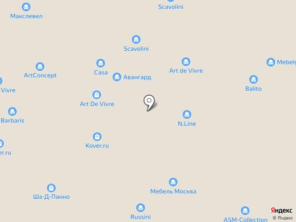 Миллениум Мебель на карте Новоивановского