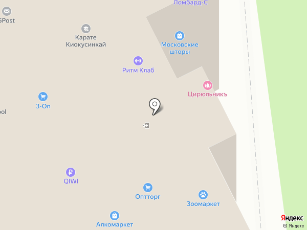 Экскомм на карте Московского