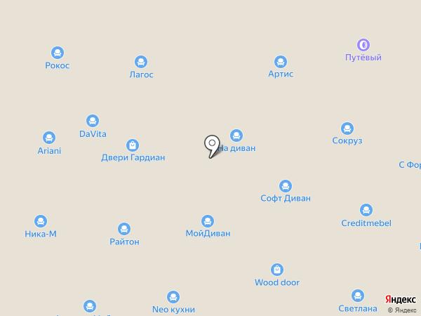 Lucida на карте Новоивановского