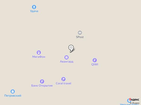Магазин цветов на карте Москвы