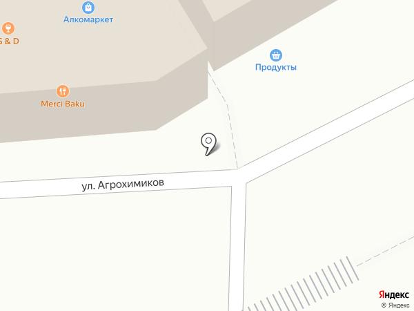 Киоск по продаже хлебобулочных изделий на карте Новоивановского
