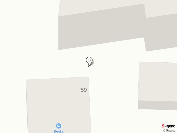 Автомойка на ул. Жолоба на карте Анапы
