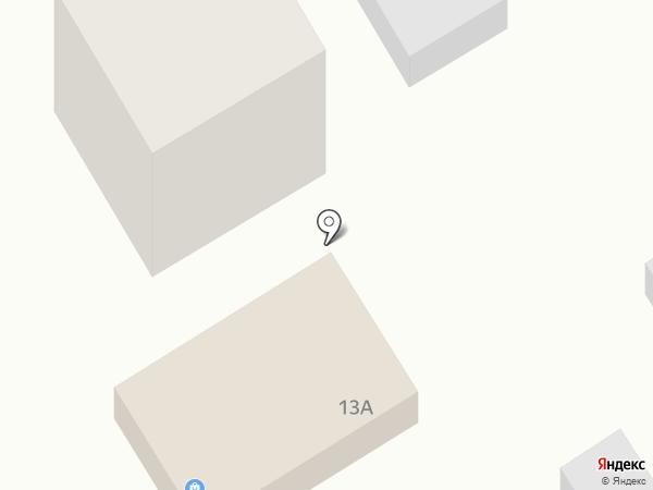 У дома на карте Анапы