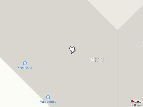 Карандаш на карте Московского