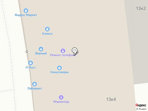 Акконд на карте Московского