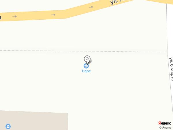 Наре на карте Анапы