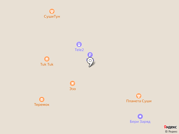 Планета Суши на карте Красногорска