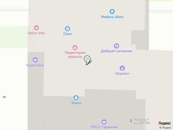 Акварель на карте Химок