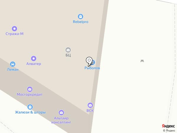 Автостоянка №18 на карте Москвы