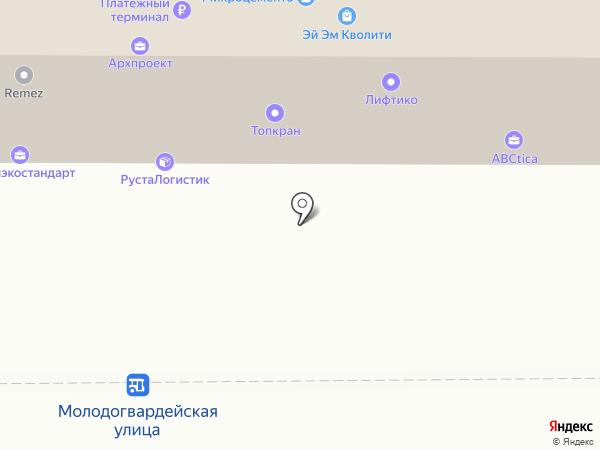 Евротрак на карте Москвы