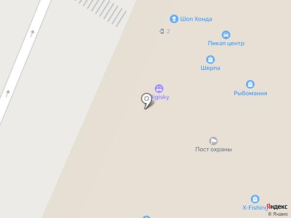 РосВездеход на карте Москвы