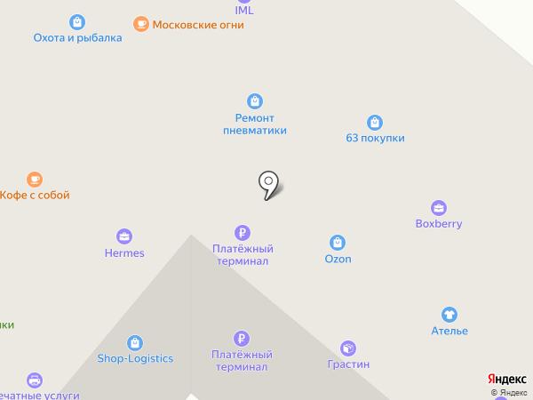 Министерство штемпельной продукции на карте Москвы