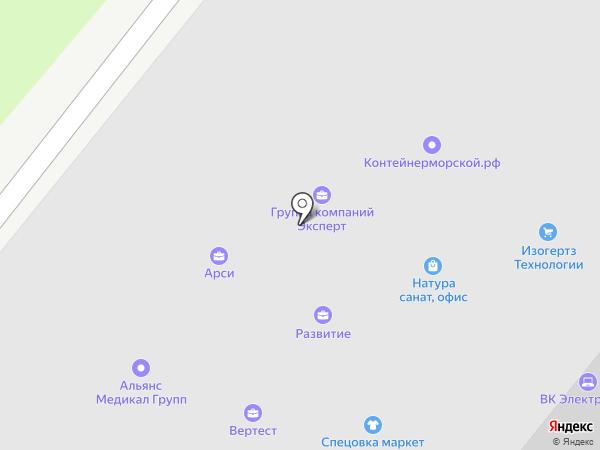 Пульмокос на карте Москвы
