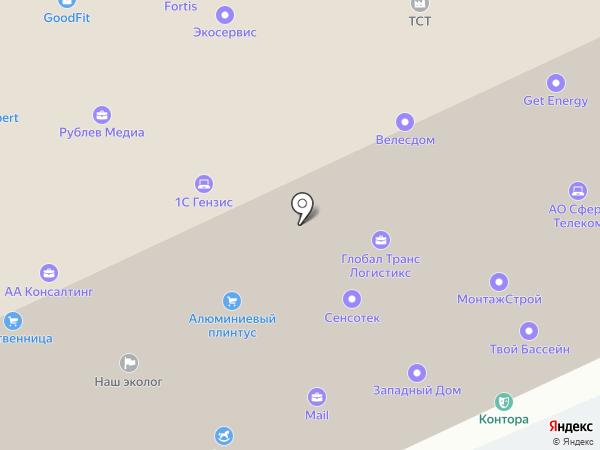 Тетраэдр на карте Румянцево