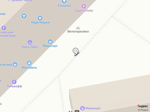 Красотка на карте Москвы