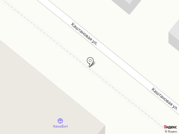 Авиабит на карте Москвы