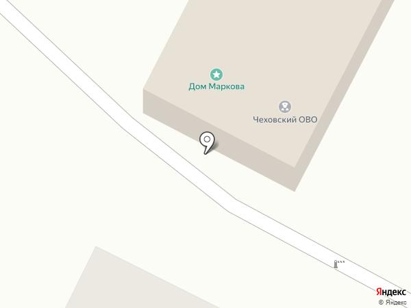 Чеховский отдел вневедомственной охраны на карте Чехова