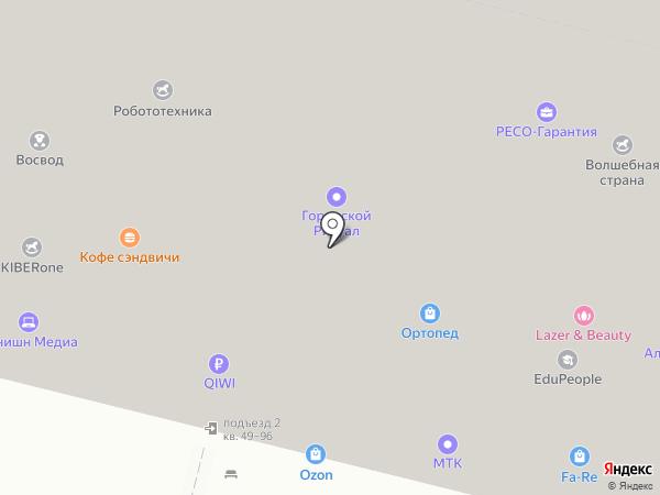 StudioBell на карте Москвы