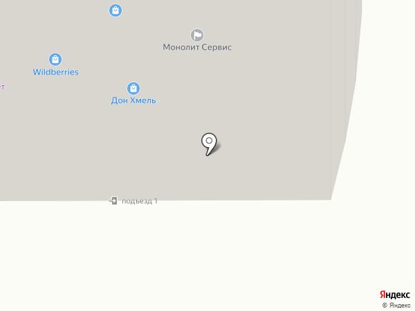 Москвич на карте Лобни