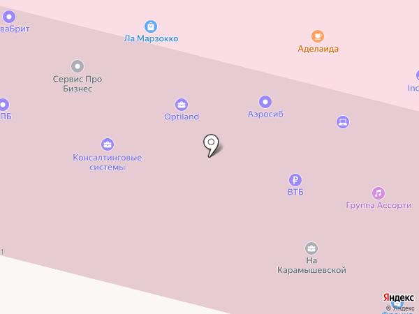 Аэросиб на карте Москвы