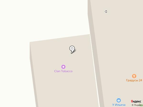 Золотая вилка на карте Иншинского