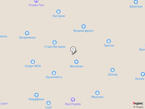Альпина на карте Москвы
