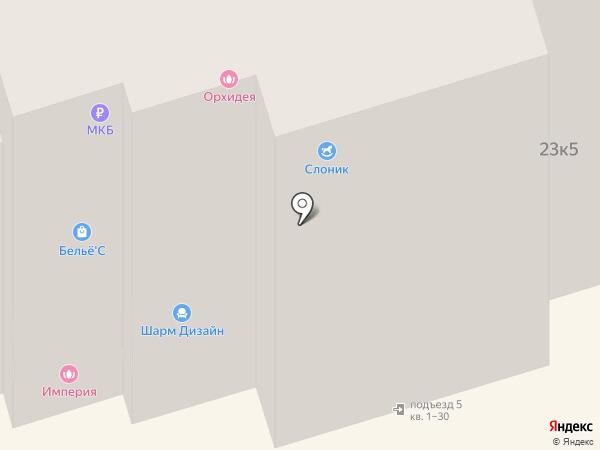 Слоник на карте Лобни