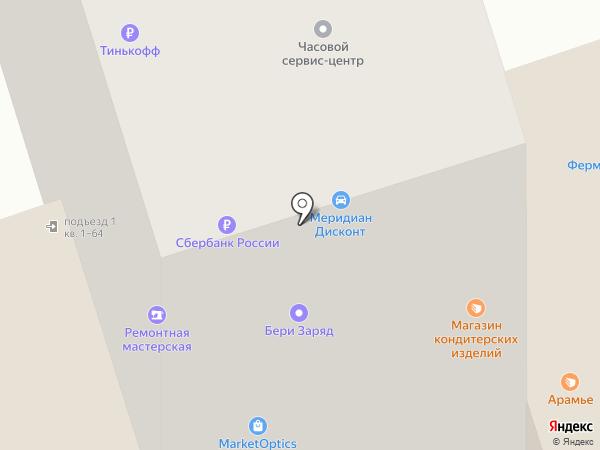 Царь на карте Москвы