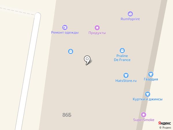 Саквояж на карте Москвы