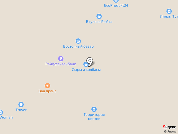 Даджет на карте Москвы