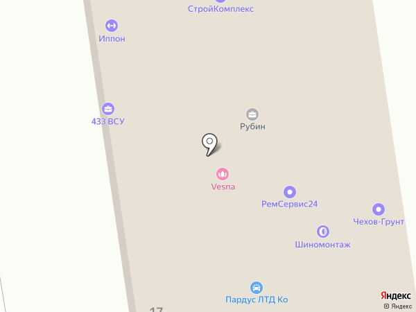 ВСК, С на карте Чехова