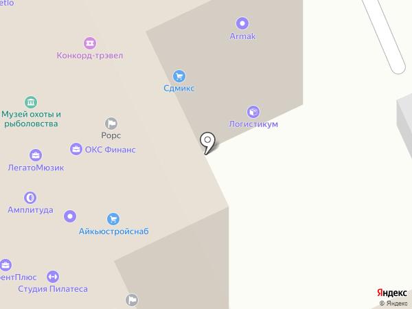 Русский Охотник на карте Москвы