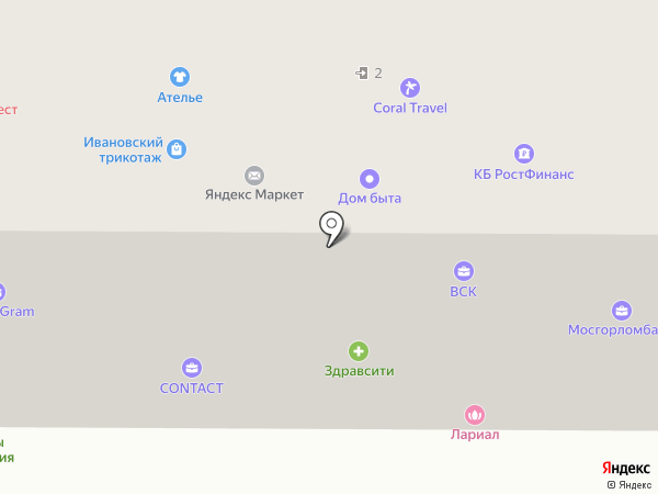 Гемотест на карте Москвы
