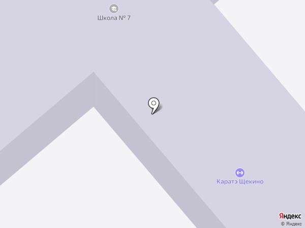 Средняя общеобразовательная школа №7 на карте Щёкино