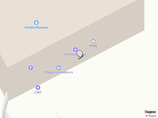 Магазин складов на карте Москвы