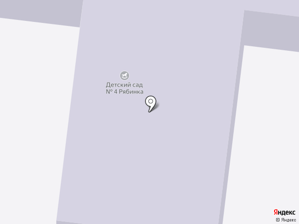 Детский сад №4, Рябинка на карте Долгопрудного