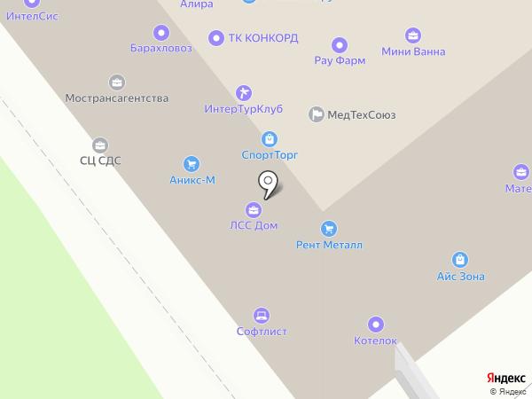 Северный-Зодчий на карте Москвы
