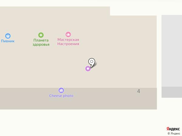 Мастерская настроения на карте Долгопрудного