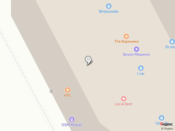 Багратионовская на карте Москвы