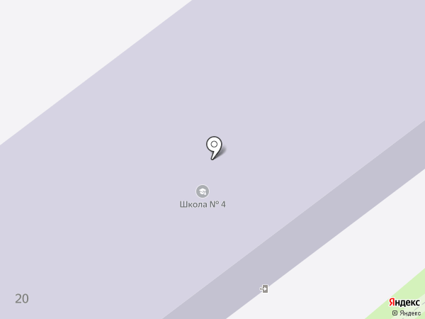 Средняя общеобразовательная школа №4 на карте Щёкино
