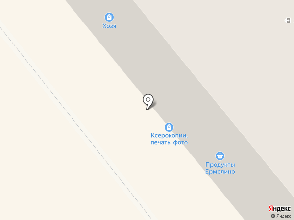 Ермолино на карте Щёкино