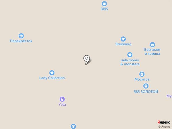 Конфаэль на карте Москвы