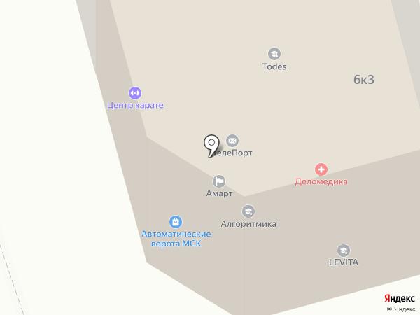 Todes на карте Долгопрудного