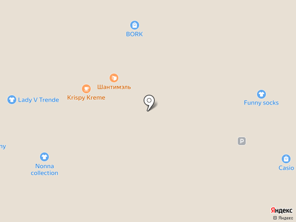 Dunkin`Donuts на карте Москвы