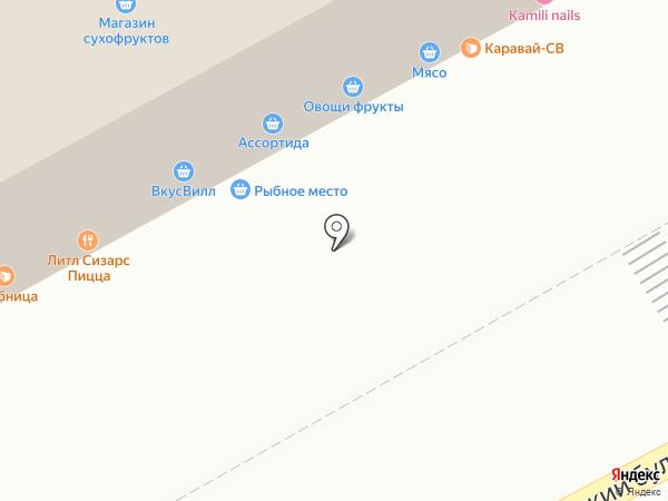 Магазин колбасной продукции и сыров на карте Москвы