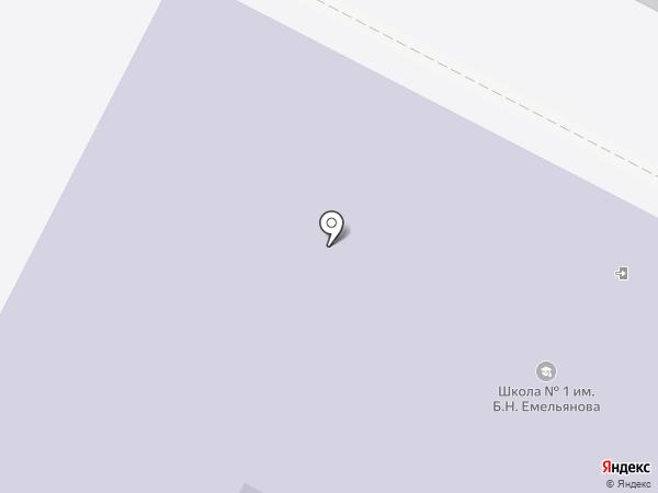 Средняя общеобразовательная школа №1 на карте Щёкино