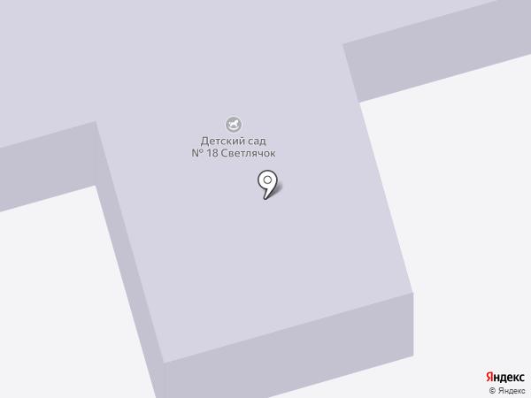 Детский сад №18, Светлячок на карте Долгопрудного