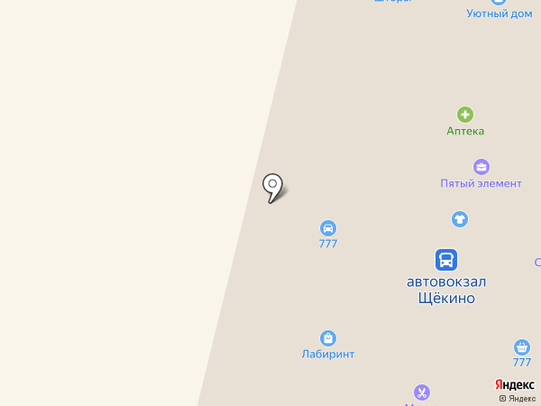 Круиз на карте Щёкино